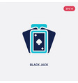 two color black jack icon from entertainment vector image