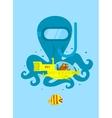 Underwater adventure vector image vector image