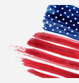 usa abstract flag brushed background abstract vector image vector image