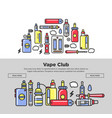 vape club promotional posters with devices and vector image vector image