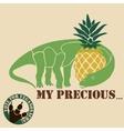 vegetarian dinosaur vector image vector image