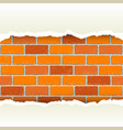 white torn paper brickwork background vector image