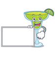 with board margarita character cartoon style vector image
