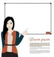 women teacher vector image vector image