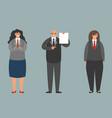 work crew business team office workers standing vector image vector image