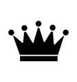 crown icon black sign on vector image