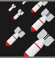icon in flat style design rocket bombs flies down vector image