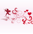 Valentine banner with space for text vector image