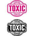 Stamp Toxic vector image