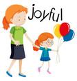 a joyful family on white background vector image