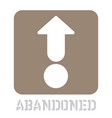 abandoned conceptual graphic icon vector image vector image