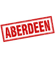 Aberdeen red square grunge stamp on white vector image vector image