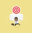 african businessman can not find the target vector image vector image