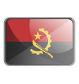 angola flag on white background vector image
