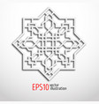 arabesque design in 3d eastern pattern sacral vector image vector image