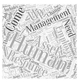 Asset Management and Human Resource Management vector image vector image