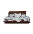 bed with pillows icon vector image vector image