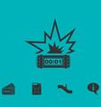 big bang flash icon flat vector image vector image