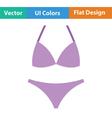 Bikini icon vector image