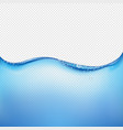 blue water wave transparent background vector image vector image