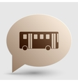 Bus simple sign Brown gradient icon on bubble vector image