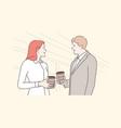business break communication friendship vector image