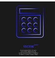 calculator Flat modern web button and space for vector image