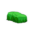 car presentation of a new model is covered vector image