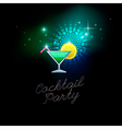 coctail party green vector image vector image