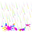 colorful rain drops isolate vector image vector image