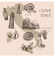 creative map italy vector image vector image