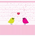 Cute birds on the love date vector image vector image