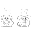 desktop phones vector image vector image