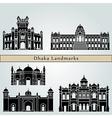 Dhaka landmarks and monuments vector image vector image