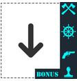 down arrow icon flat vector image vector image