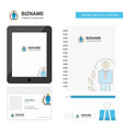 employee business logo tab app diary pvc employee vector image vector image