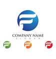 f letter logo template vector image