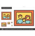 family portrait line icon vector image vector image