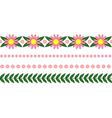 floral garland pink vector image