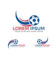 football sport logo design vector image vector image