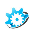 gear satellite global engineering symbol design vector image vector image