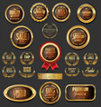 golden badges and labels collection 8 vector image vector image