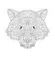 good Wolf head coloring for adults vector image