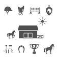 Grayscale Horse Icons on White Background vector image vector image
