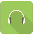 headphone icon vector image vector image