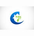 home ecology environment logo vector image vector image