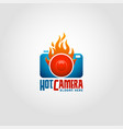 hot camera - photography logo vector image vector image