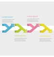 infographic five step with ribbon up down arrow