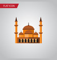 isolated architecture flat icon mohammedanism vector image