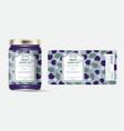 label packaging jar marmalade pattern bramble dewb vector image vector image